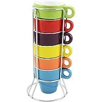 com-four® 6 tazas de espresso de cerámica en