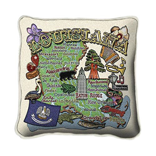 Louisiana State Pillow - 24 x 24 Pillow