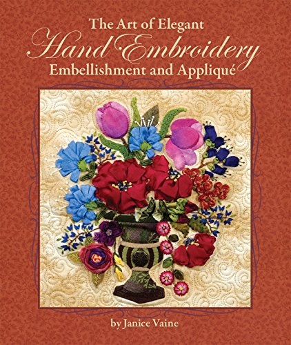 Hand Embroidery Embellishment (The Art of Elegant Hand Embroidery: Embellishment and Appliqué, Hardcover Spiral-Binding with CD of 124 Printable Patterns)