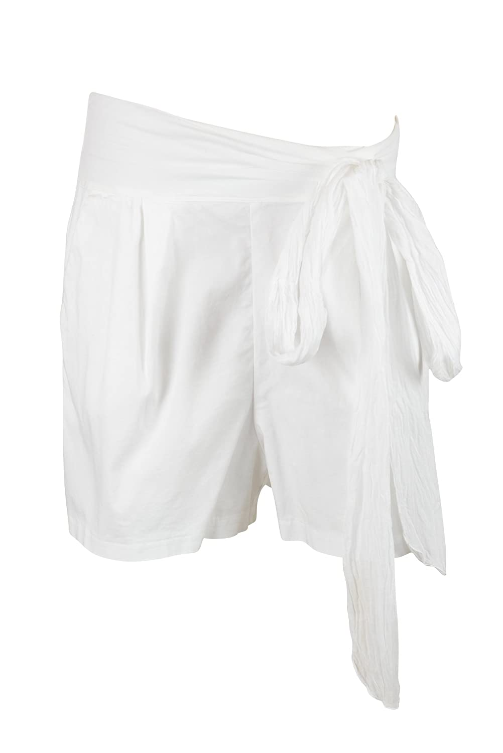 European Culture Womens Pull On Tie Waist Loose Fit Shorts