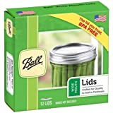 Ball Jars Wide Mouth Lids, 12 Count (Pack of 1)