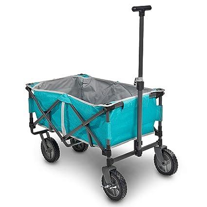 Navaris Carrito para Playa jardín Festival y Camping - Carro de Mano con Capacidad de 50KG - Carrito Plegable para Hacer Compras Azul Turquesa: Amazon.es: ...