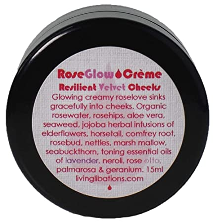 Living Libations – Organic Wildcrafted Rose Glow Face Creme 15 ml