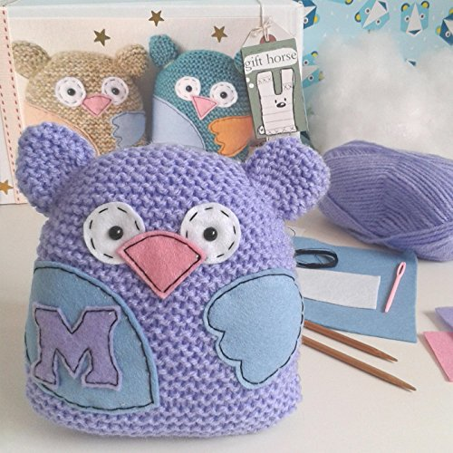 Little Owl Learn To Knit Kit from Gift Horse Kits.