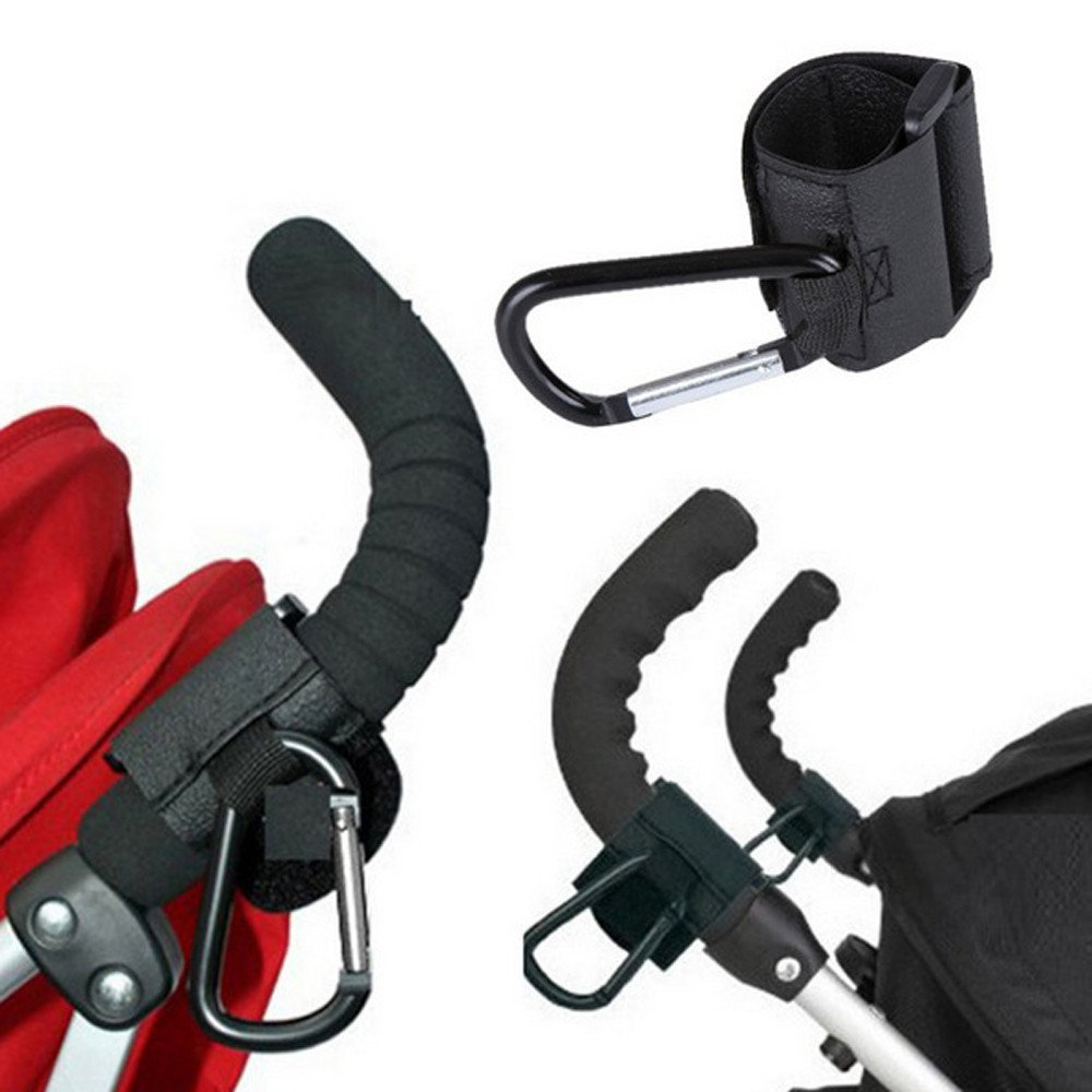 Clothful  Kids Baby Pushchair Stroller Pram Clip Hooks Shopping Bag Metal Hook Holder
