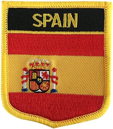 Spain Sew On Patches Badges Spanish National Flag Embroidered  Iron on