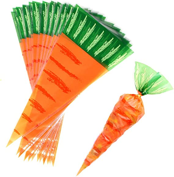 Carrot Treat Bags; Set of Two Easter Candy Bag Set; Easter Gift; Reusable Snack Bags; Draw String Candy Bag; Crayon Bag; Party Favour Bag
