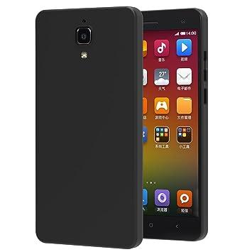 ivoler Funda Carcasa Gel Negro para Xiaomi Mi 4, Ultra Fina 0,33mm, Silicona TPU de Alta Resistencia y Flexibilidad