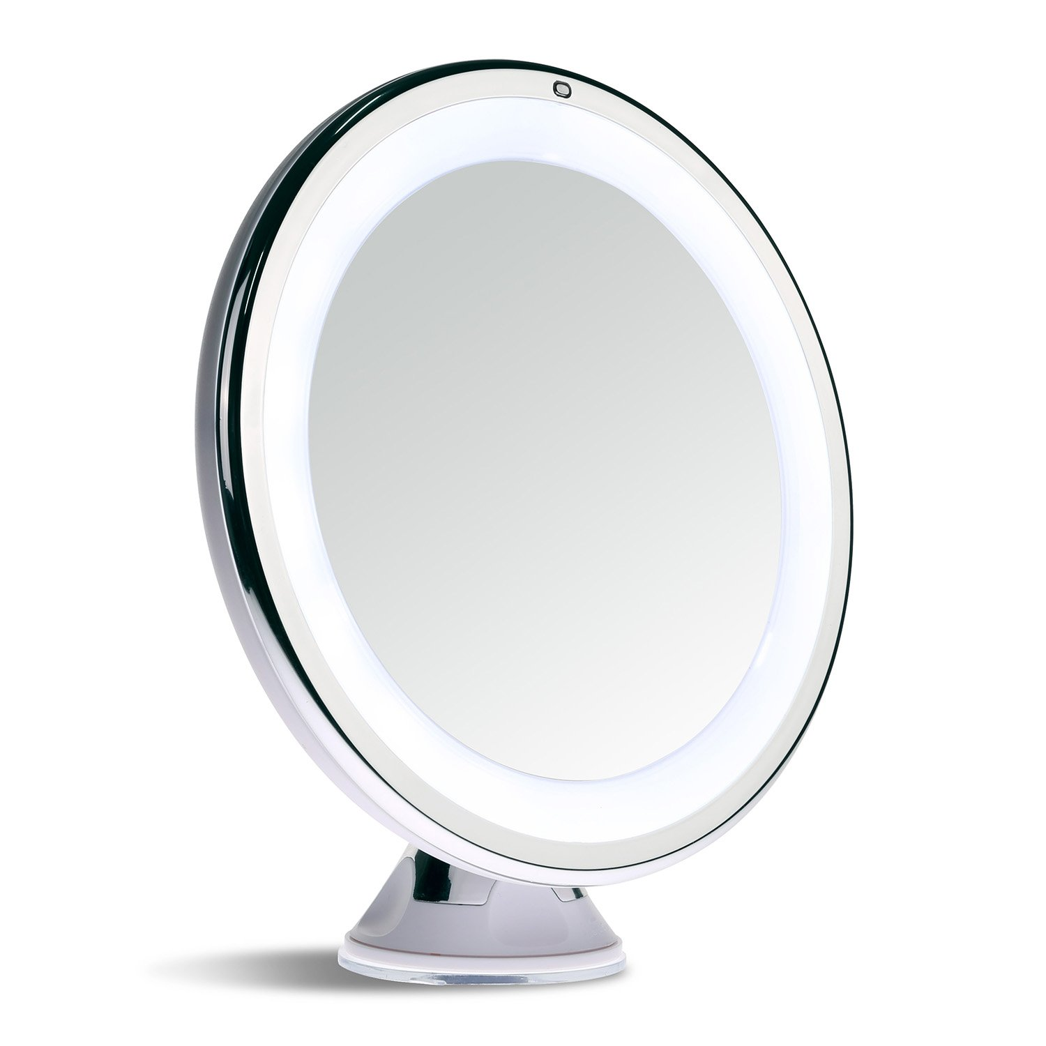 sanheshun makeup mirror 10x magnifying lighted compact with suction. Black Bedroom Furniture Sets. Home Design Ideas