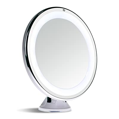 Magnifying Lighted Travel Makeup Mirror