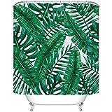 Foglie di palma tropicale tenda doccia tessuto poliestere stampa digitale Custom Shower Curtain 183 x 183cm
