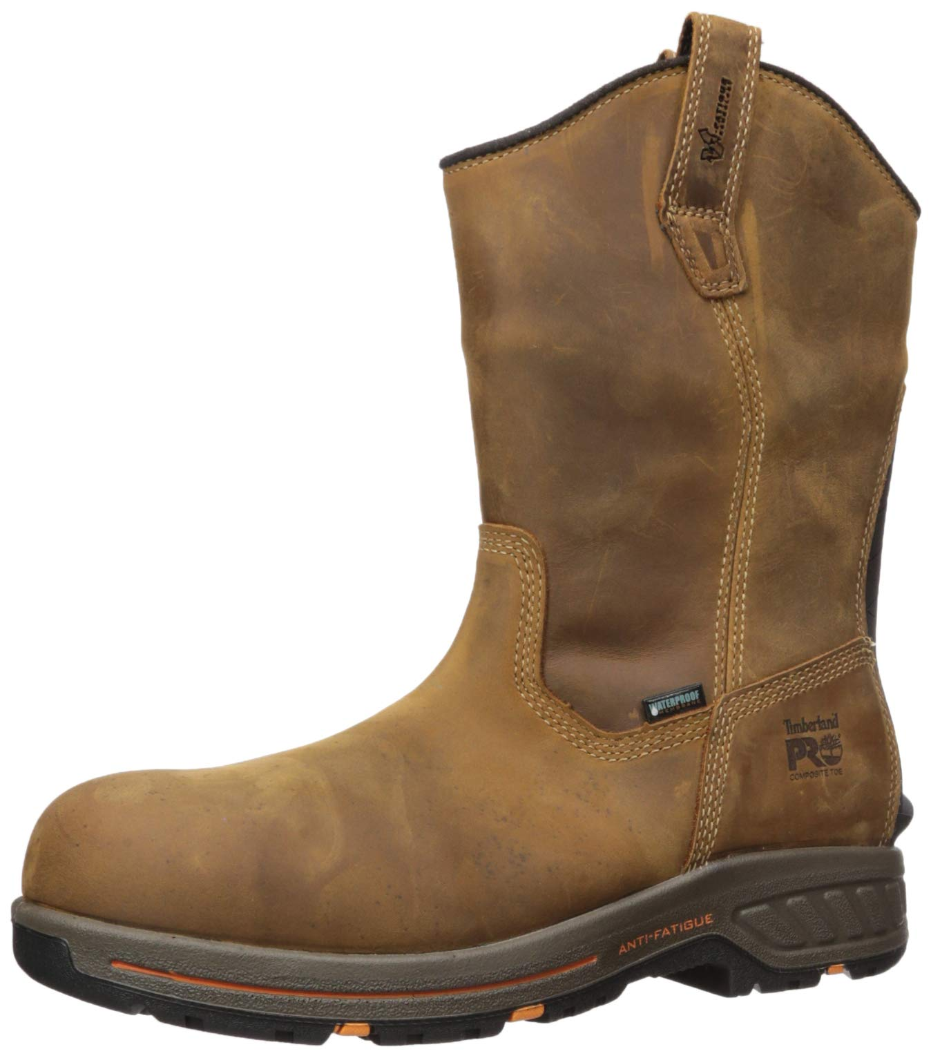 Timberland PRO Men's Helix HD Pull On Composite Toe Waterproof Industrial Boot, Brown Distressed, 10.5 M US by Timberland PRO