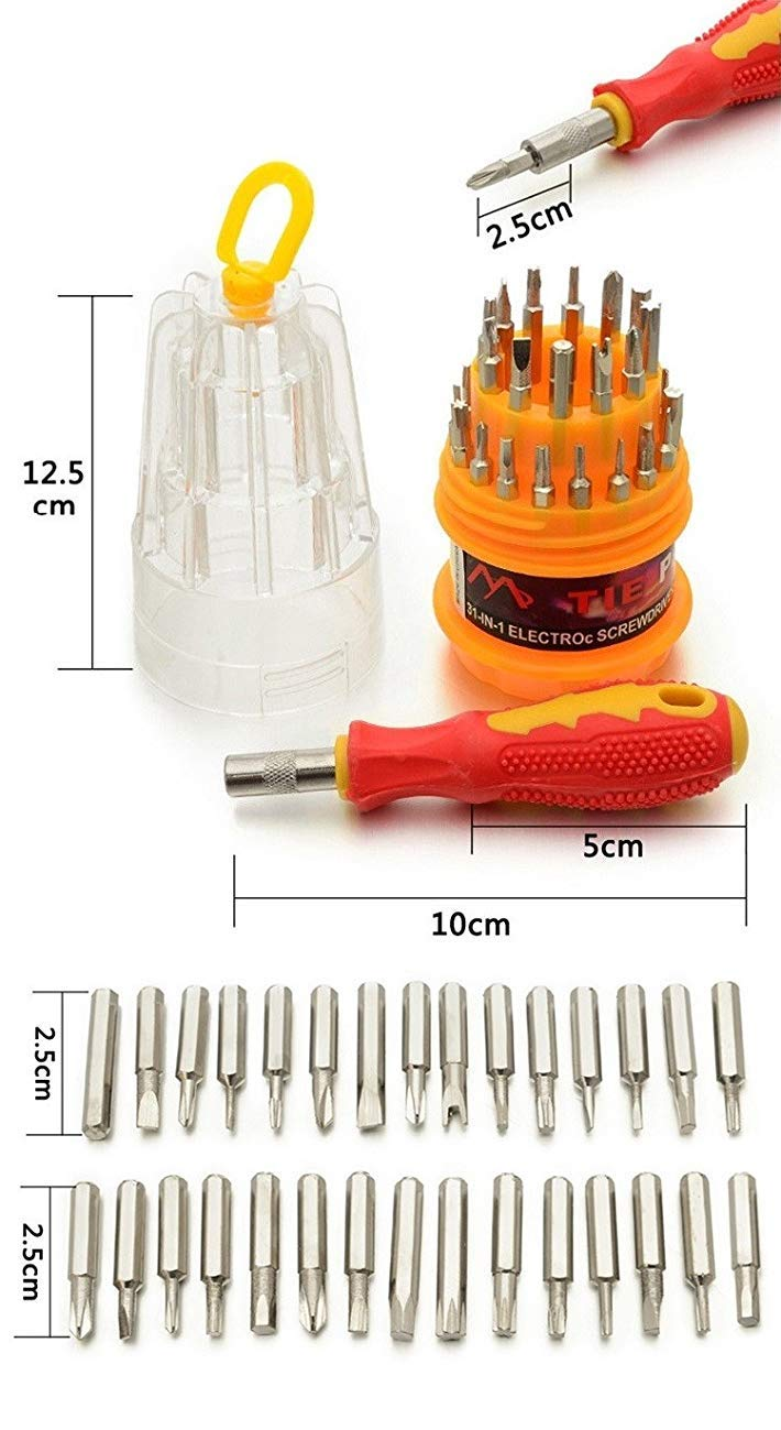 7Q7 31 in 1 Screw Driver Toolkit - Multifunction Universal Magnetic Screwdriver Toolkit for Laptops and Mobiles (B07VXXBVZQ) Amazon Price History, Amazon Price Tracker
