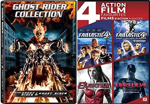 Marvel Studios 6-Pack Collection Fantastic Four / Fantastic Four Rise Of The Silver Surfer / Elektra / Daredevil / Ghost Rider / Spirit of Vengeance DVD Set (Ghost Rider Vs Ghost Rider Spirit Of Vengeance)