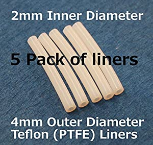 FLASHFORGE 3D Printer Teflon Tube For Nozzle (5 pack of liners) by TabSynth Design Works LLC