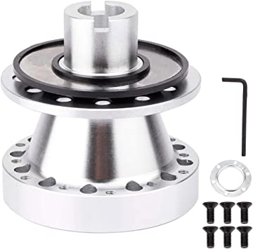 Acouto Car Quick Release Steering Wheel Hub Steering Wheel Adapter for CR-V Aluminum Alloy