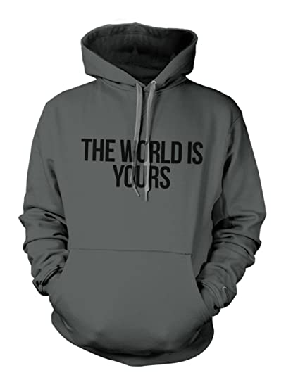 Amazoncom The World Is Yours Scarface Quote Hoodie Sweatshirt Books