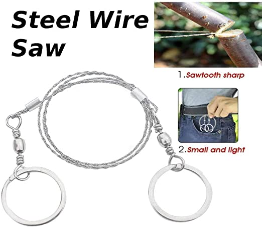 Portable Multifunctional Life Chain Saw Blade Stainless Steel Wire Saw Cutter UK