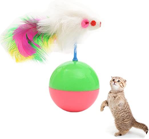 Namgiy Pelota de juguete para gatos, juguete interactivo para ...