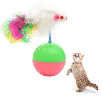 Namgiy Pelota de juguete para gatos, juguete interactivo para gatos, pelotas de vaso,
