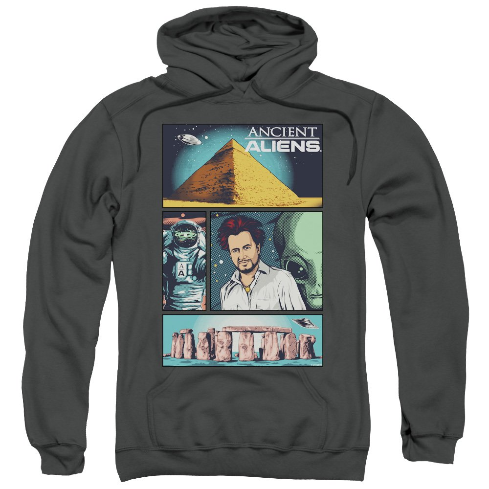 Ancient Aliens - - Männer Aliens Comic Page Pullover Hoodie