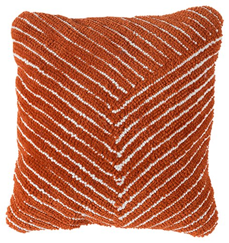 Lavish Home 66-09-JT Modern Throw Pillow Burnt Orange ()