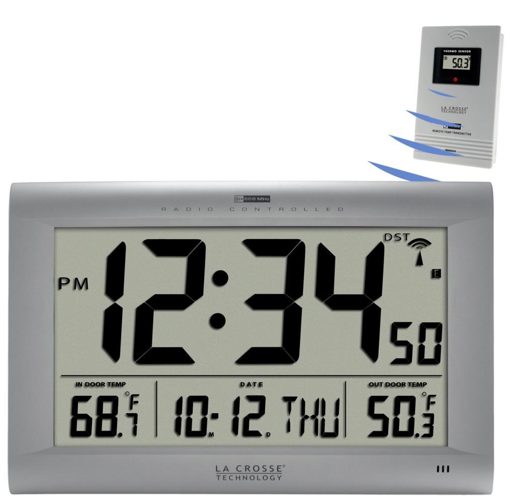 La Crosse Technology 5131311OT Jumbo Atomic Digital Wall Clock