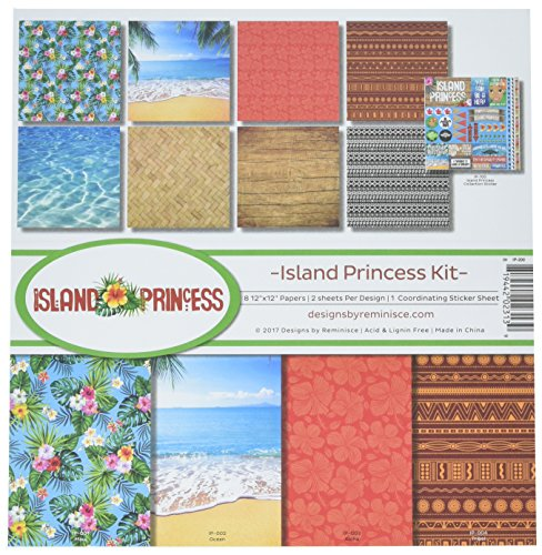 Tropical Scrapbook Stickers - Reminisce (REMBC) IP-200 Island Princess Scrapbook Collection Kit, Multicolor
