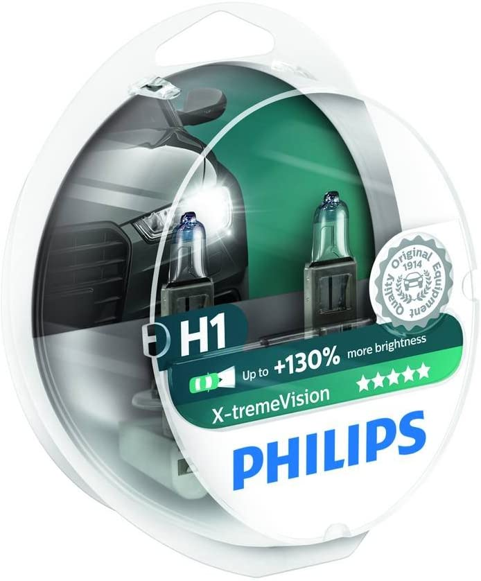 E Marked 2 x Phillips X-Treme Vision Headlight Bulbs Head Lamp Pair