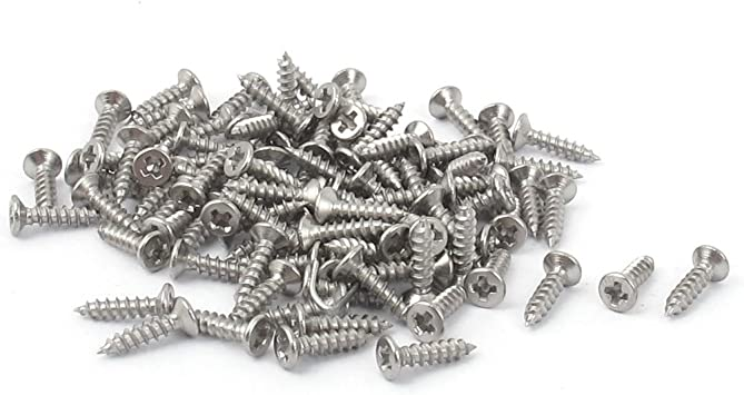 M1 x 5mm Nickel Plated Phillips Self-tapping Small Wood Screws