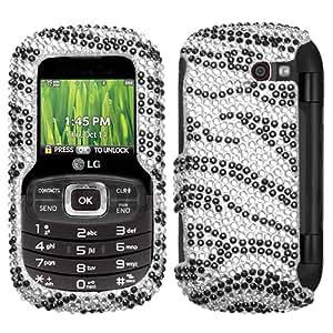 MyBat LG Octane Diamante Protector Cover - Black Zebra