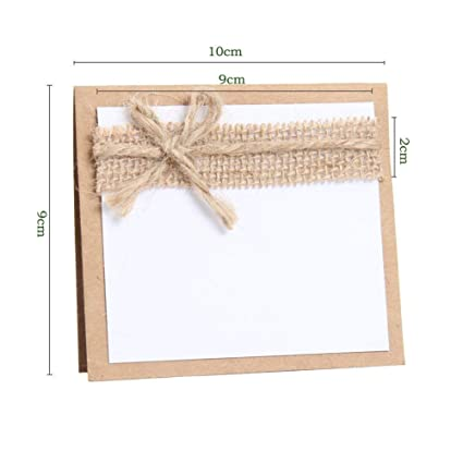 New Rustic Table Number Cards 10cm x 10cm x 2cm //50