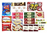 Korean Popular Snack, Cookies, Chips and Candies Variety Box (30 Count)