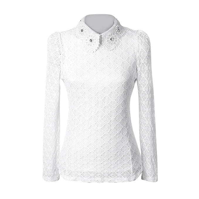 f40e1e584e181f Fedi Apparel Women's White Long Sleeve Blouse Korean Style tops Work Wear  Shirts at Amazon Women's Clothing store: