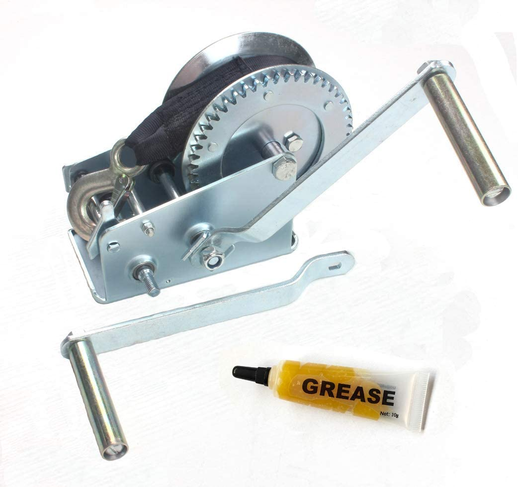 3500 lb Hand Gear Winch Come with Two Crank Handles! 1600 lb with Cable Manual Operating with Strap /& Cable for Boats and Trailers AC-DK 1600 lb .
