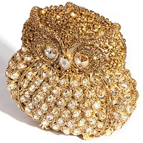 Digabi Women Clutch Cylindrical Bags Gold Shape Crystal Evening rxOnqwEr4P