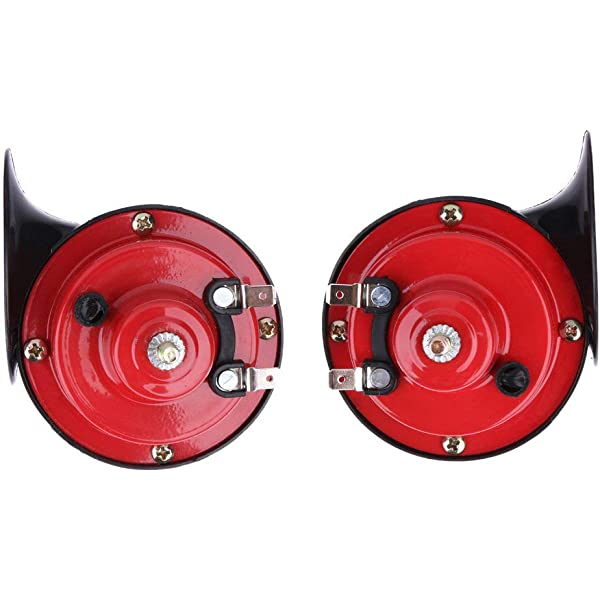 12V New Loud Low Tone Car Boat Siren Horn twin Terminal 110db For Audi