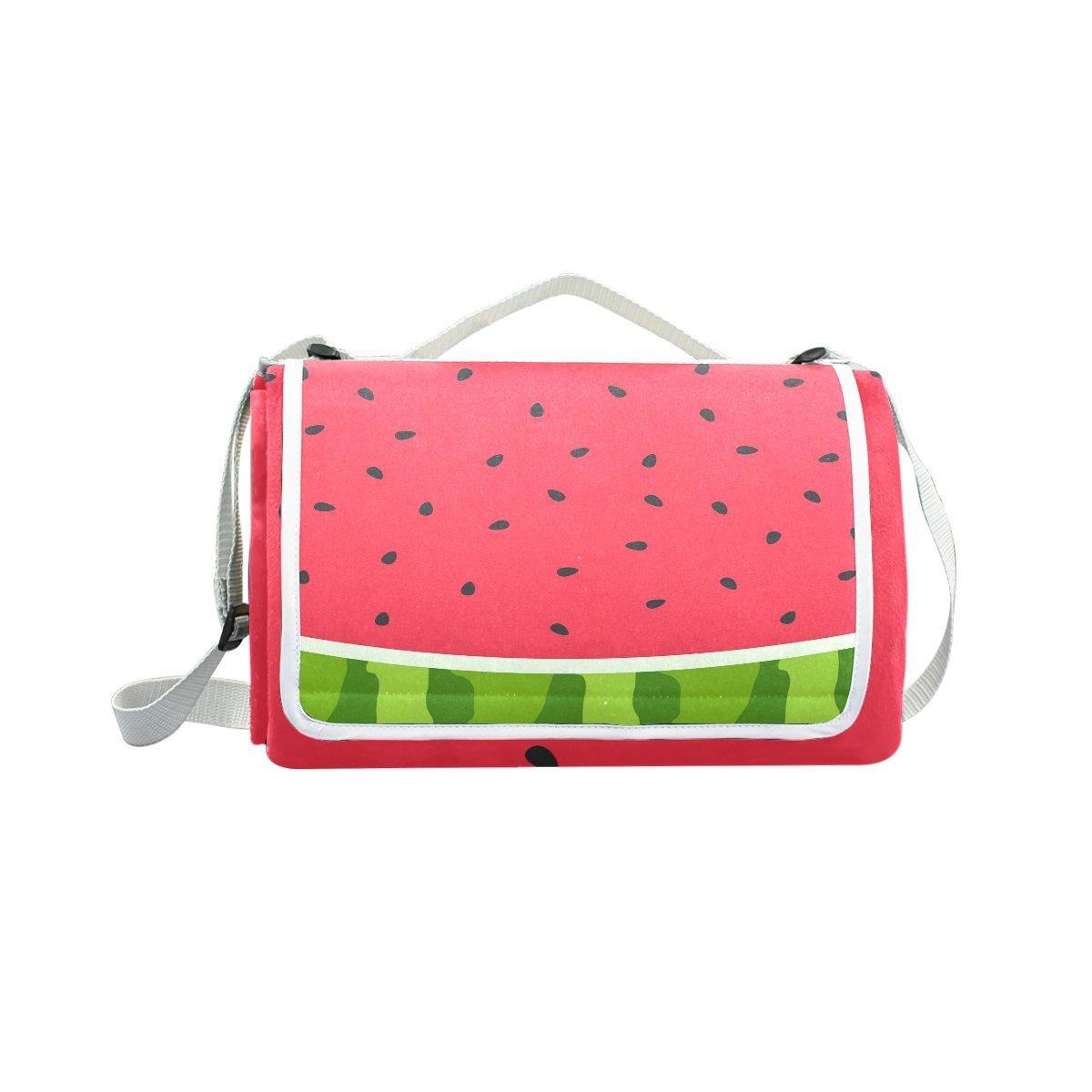 My Little Nest Outdoor Camping Picnic Beach Blanket Mat Watermelon Slice Lightweight Portable Folding Travel Pad 57'' x 59''