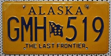 Alaska Nummernschild Usa Kennzeichen Us License Plate Original Geprägtes Blechschild Auto