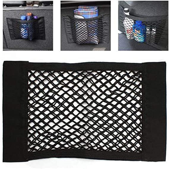 Car Trunk Rear Back Seat Elastic String Mesh Storage Bag Pocket Cage Universal