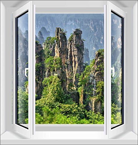 XMJR Wall decoration 3D estéreo vista horizontal serie versión vertical dejar la ventana adhesivo deje las ventanas y la ventana de emulación de adhesivo de pared ,nueva 458-nei, Rey: Amazon.es: Hogar