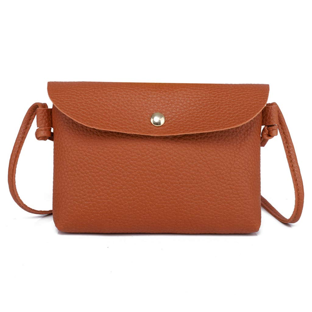 Rakkiss Women Leather Crossbody Bag Pure Color Shoulder Bags Messenger Bag Coin Bag