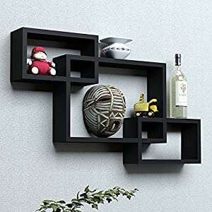 Santosha Decor Intersecting Floating Storage Decoration Wall Shelves