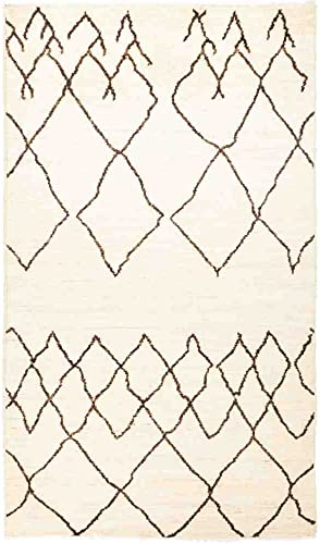 Solo Rugs Moroccan Atlas One of a Kind Hand Knotted Area Rug, Beige, 4 9 x 8 3