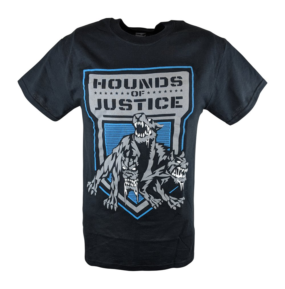 Hybrid Tees The Shield Hounds of Justice Mens Black T-Shirt-L