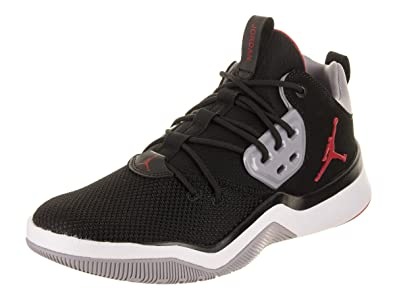 sale retailer 2fc63 0f1c4 Image Unavailable. Image not available for. Color  Jordan Nike Men s DNA  Black Gym Red Cement Grey Basketball Shoe ...