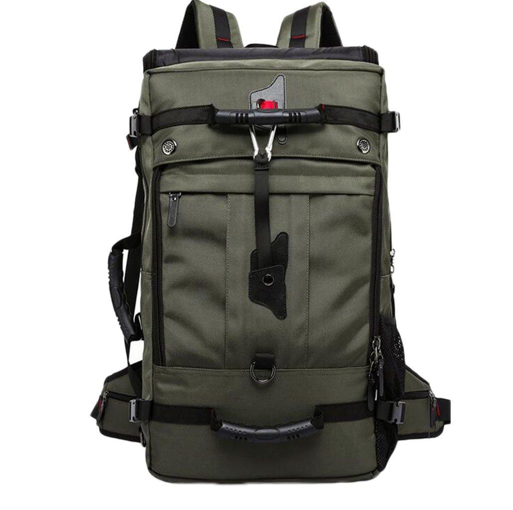 jbhurfバックパックメンズトラベルバックパックアウトドアスポーツバッグ大容量50l three-use防水実用的Super Large登山バッグ  グリーン B07FB6QX6L