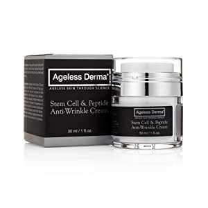 Ageless Derma Stem Cell and Peptide Facial Anti Wrinkle Cream By Dr. Mostamand. This Anti Aging Face Moisturizer Restores Youthful Glow to Your Skin