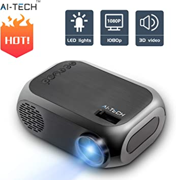 Aitech Mini Proyector Portatil Bombilla De 50000 Horas Video ...