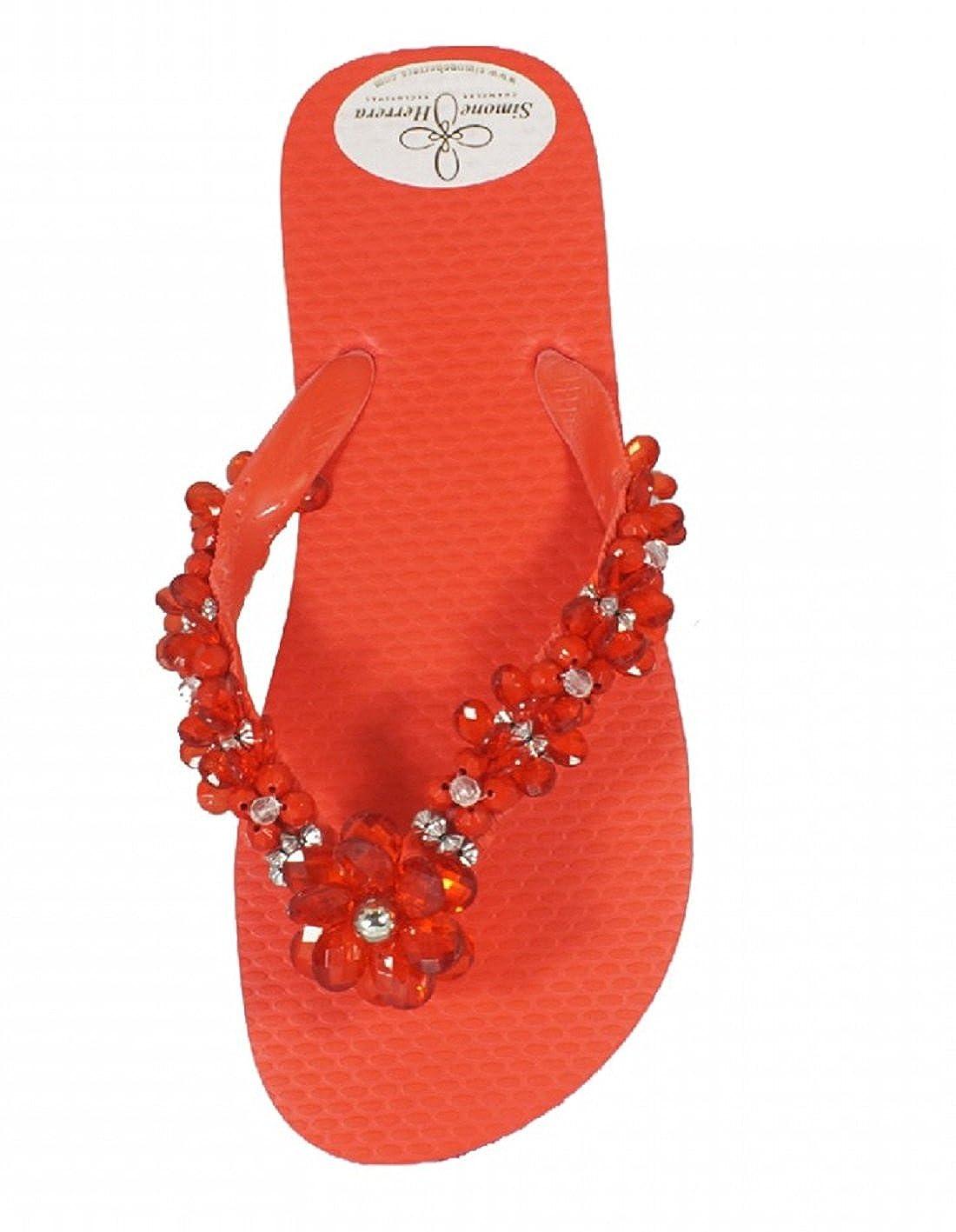 Designer Luxus Flip Flip Flip Flops-Chanclas Exclusivas by Simone Herrera-Flora Line-Lena-Riemchen Sandale Zehentrenner 9e3e74